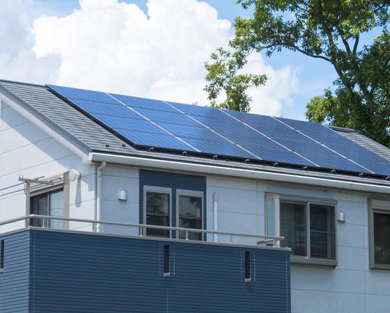 太陽光ソーラーパネルの利用イメージ